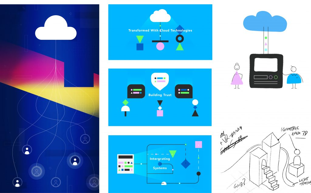 Cloud Cubed visual identity options