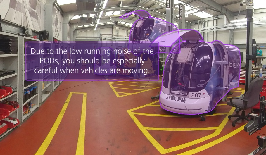 VR training - identifying vehicle hazards